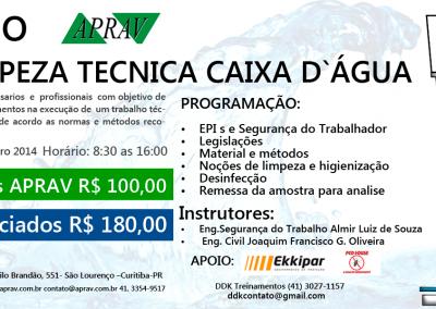CURSO LIMPEZA TECNICA CAIXA  D`ÁGUA