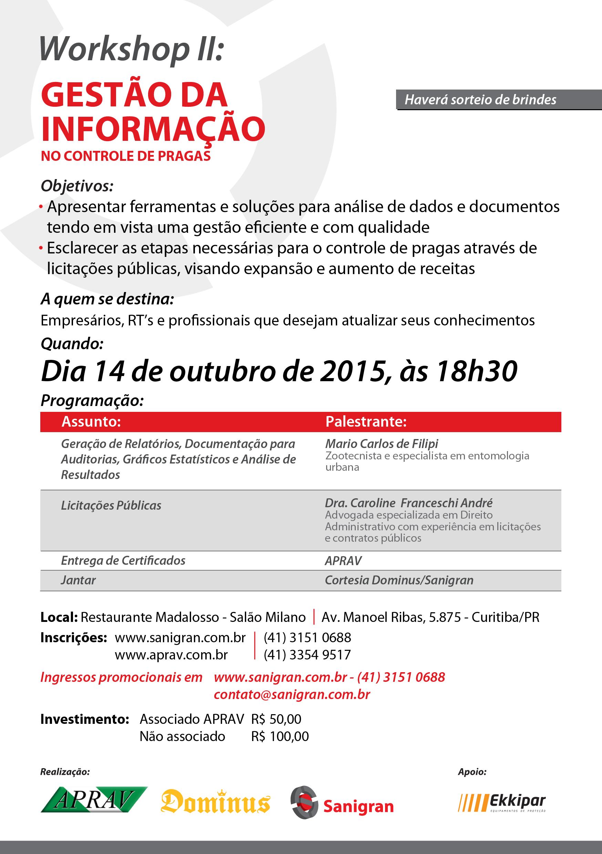 Workshop II: Gestão da Informação no Controle de Pragas